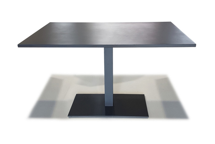 Iris Outdoor Aluminium Cafe Table 120x80x74 - Charcoal Or White