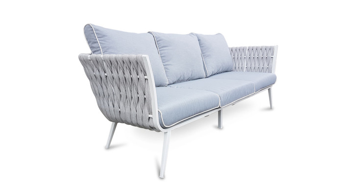 Zen outdoor strap and aluminium sofa