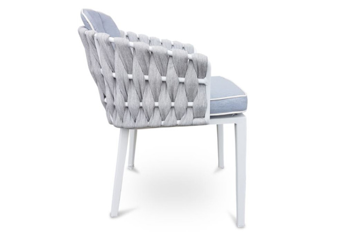 Zen Outdoor Strap And Aluminium Dining Arm Chair