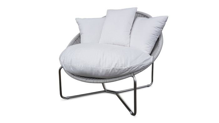 Peyton Outdoor Lounge Chair 3mm Wicker With Stainless Steel Frame - 2 Colours