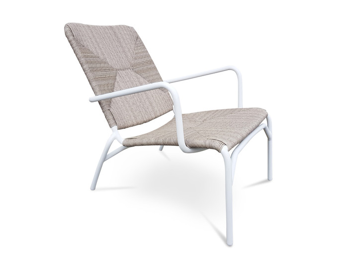 Calvin Outdoor Aluminium And Wicker Easy Arm Chair