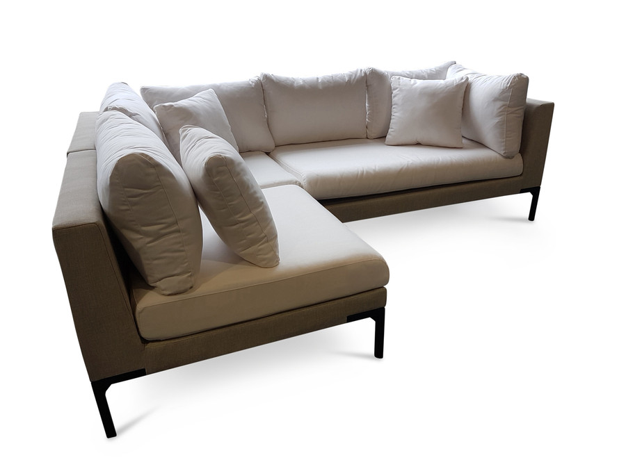 Christa Outdoor Modular Corner Sofa Set - Nanotex Sand