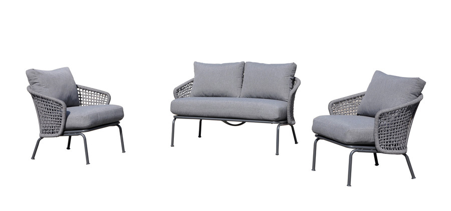 set including Lattice Sofa and Lattice arm chairs