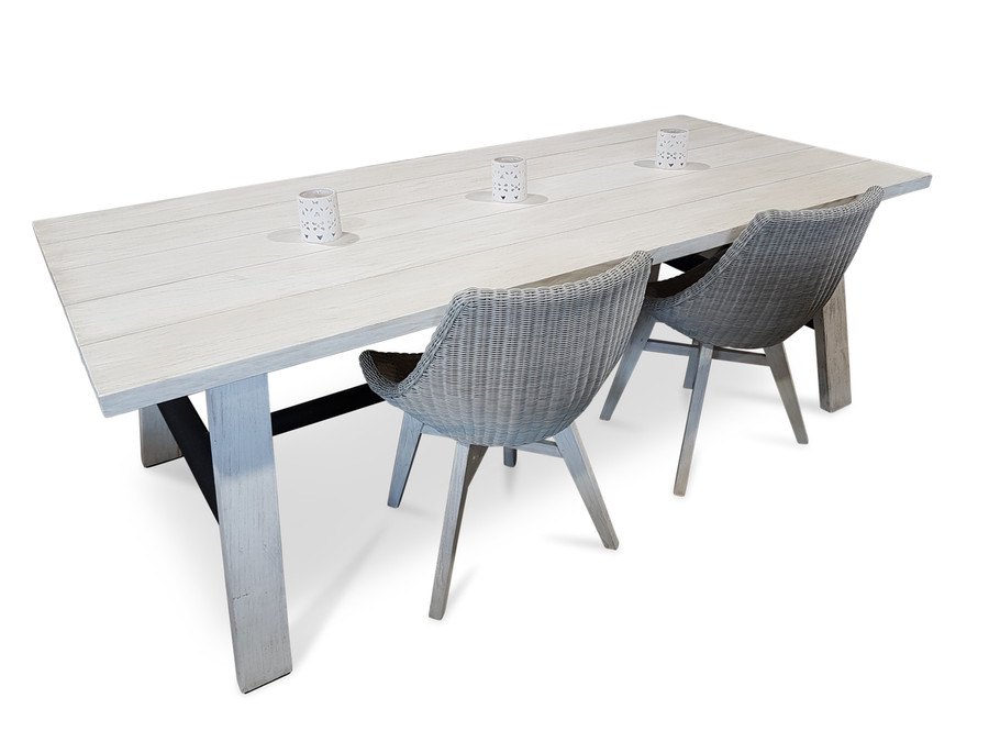 Morotai Aged Teak Outdoor Dining Table - 2 Sizes
