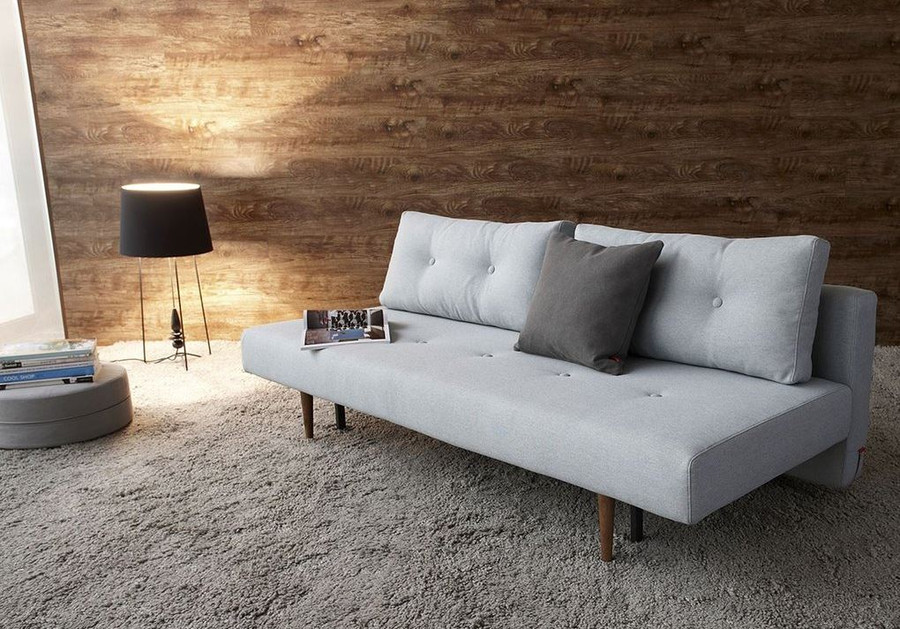 Recast Sofa Bed by Innovation Living . With backrest down to form a double bed