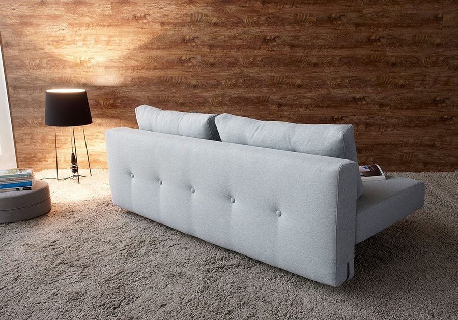 Recast Sofa Bed by Innovation Living . Shown from rear of sofa bed, in sofa position.