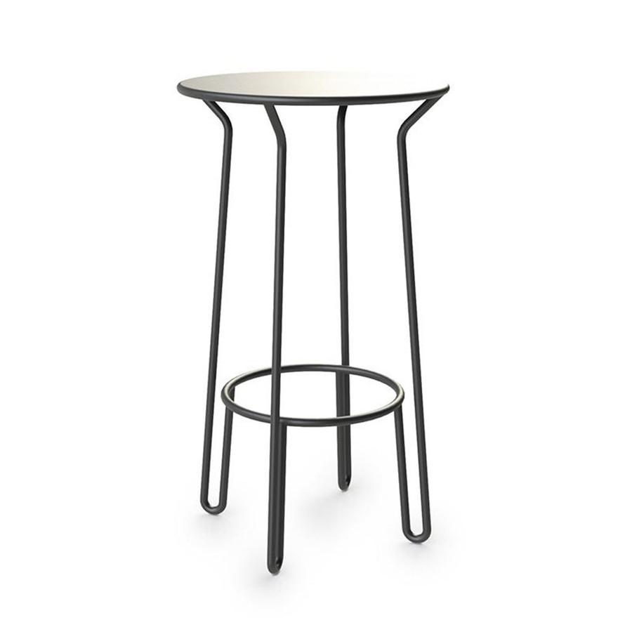 Maiori aluminium Huggy bar table - 105cm high