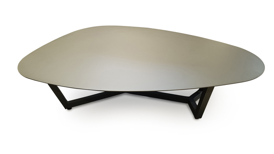 Here is another view of the Leaf outdoor coffee table.