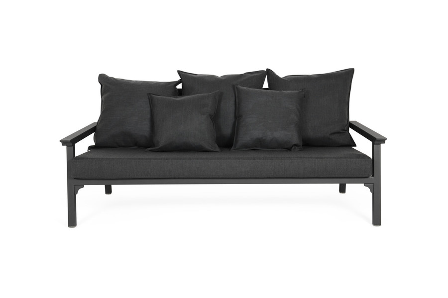 Maiori 3 person sofa 186cm wide. PLEASE NOTE : actual fabric differs from image. Refer Maiori Classique arm chair for example of actual fabric.