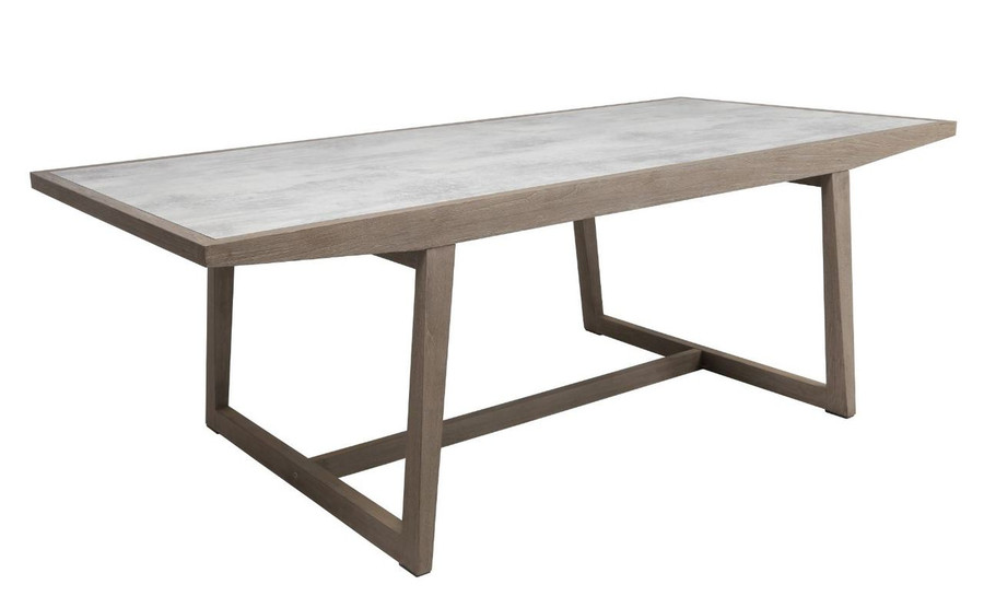 Les Jardins outdoor teak table with HPL top - closed