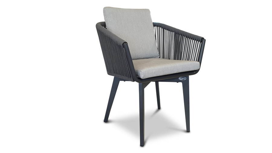 and another view of Diva outdoor dining arm chair