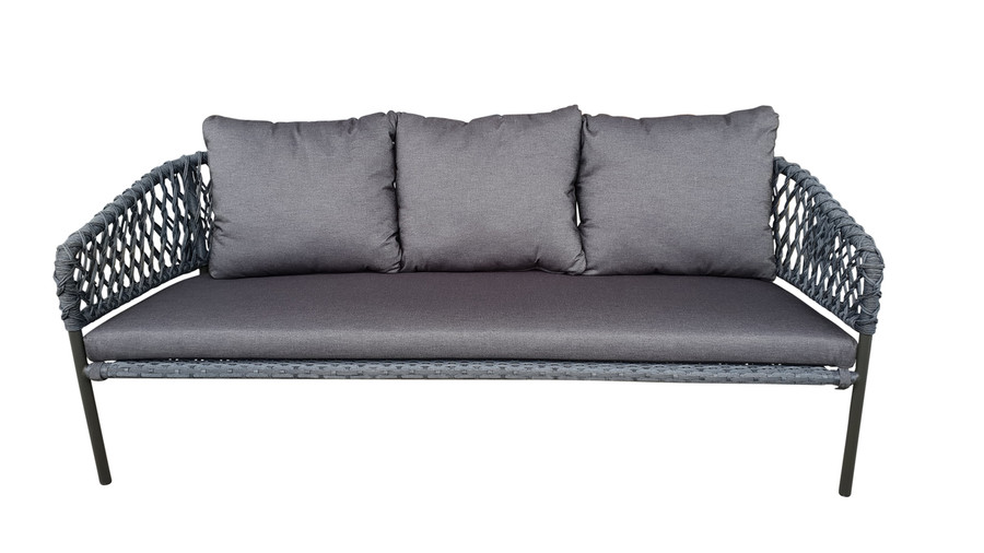 Front view of Cancun Outdoor Rope-effect Cord And Aluminium sofa