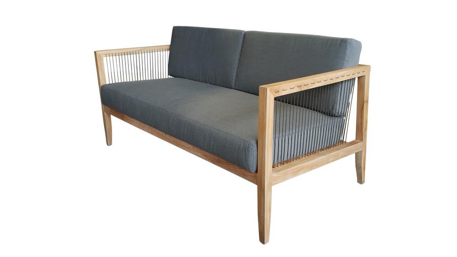 Angle view of Astoria outdoor sofa