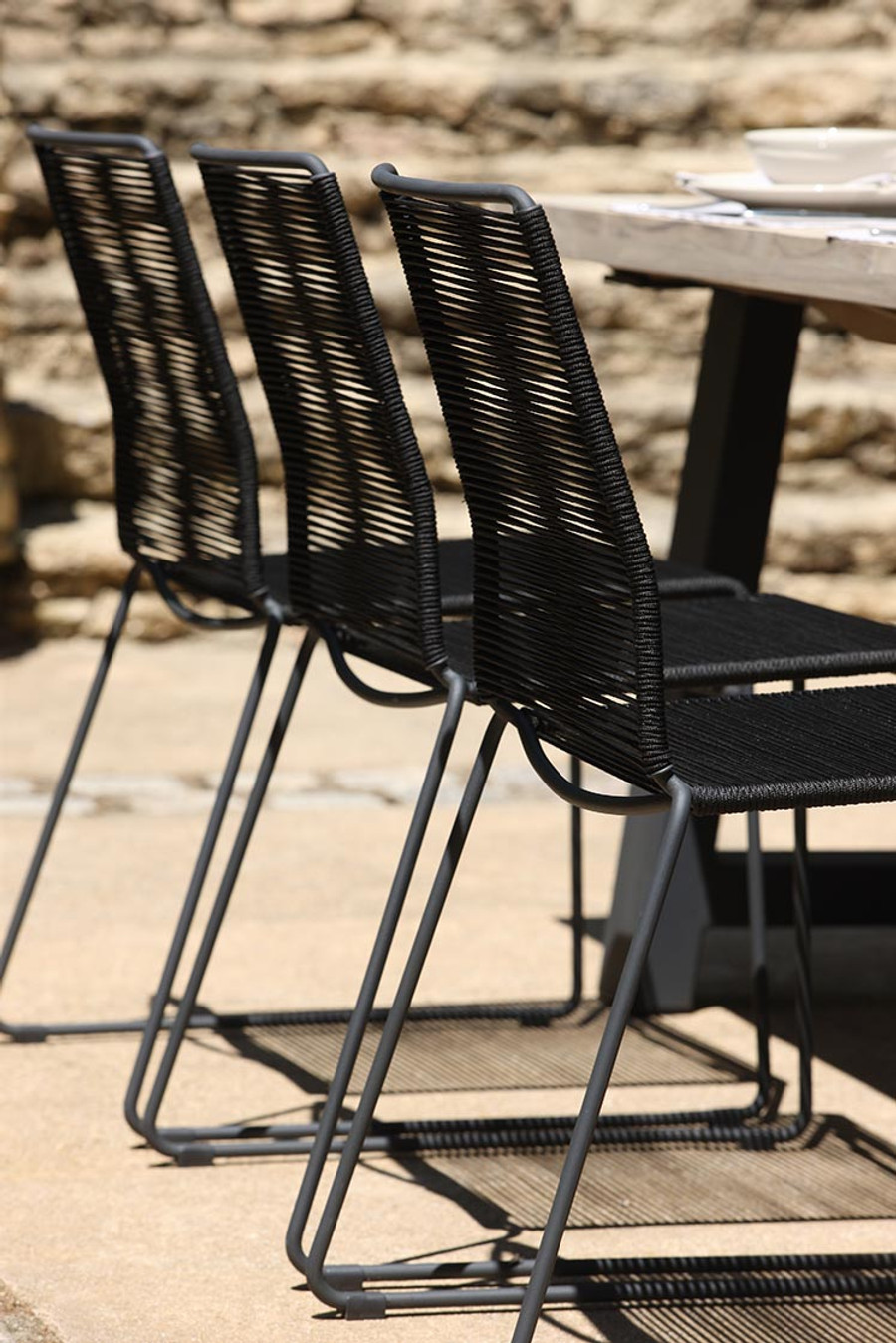 James outdoor side chairs with beach outdoor table