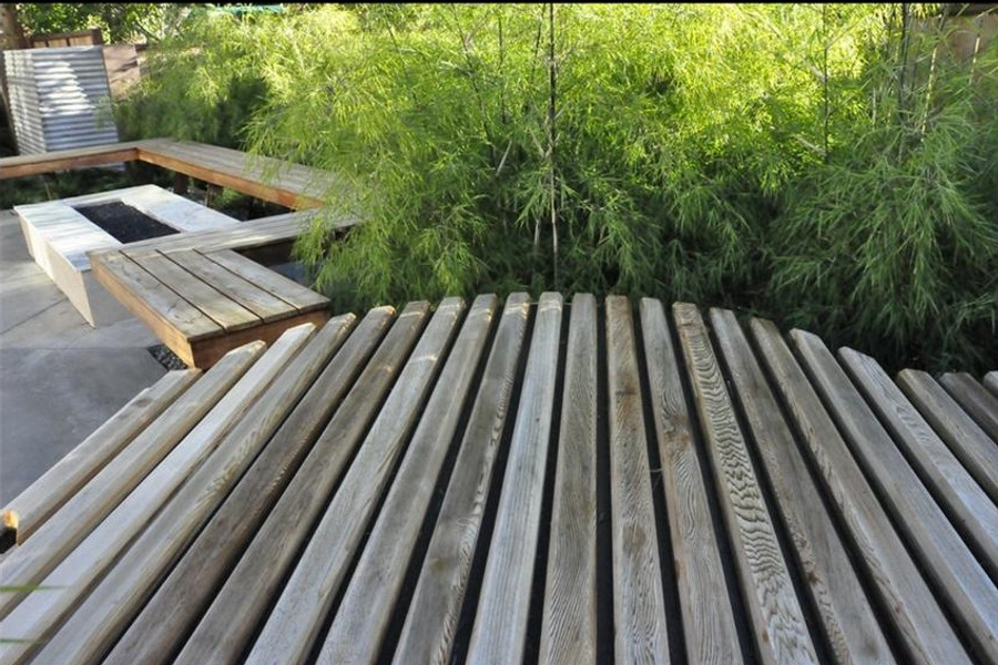 cedar slatted roll cover is optional