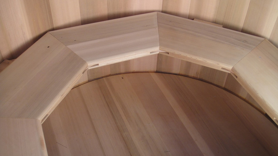 octagonal wall hung bench seat