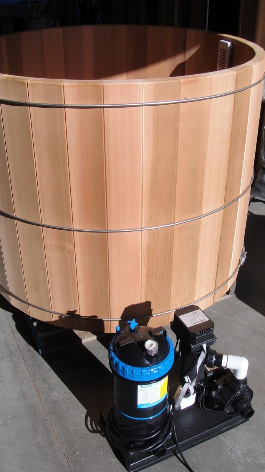 cedar barrel hot tub - 5ft diameter. prices starting from...