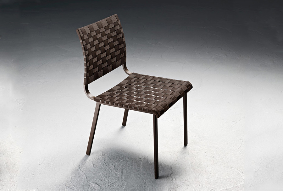 Hamptons Graphics outdoor dining chair, coffee