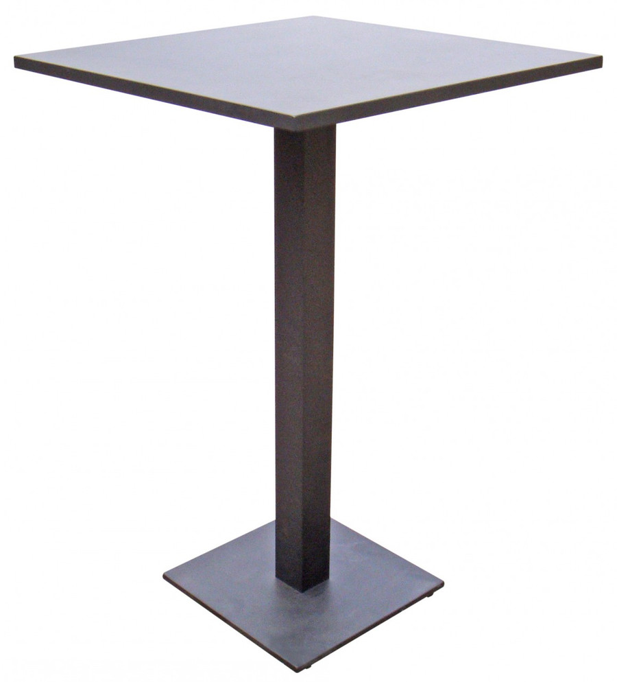 Iris outdoor bar table Iris 70x70 white or charcoal or coffee colour