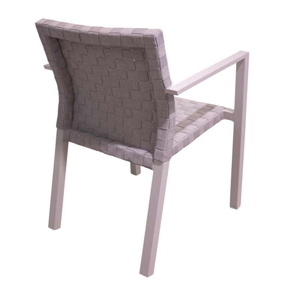 dining chair Miami - aluminium & strap