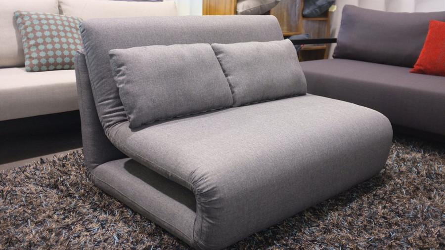 king single sofa bed in grey, grey colour also available for the single sofa bed