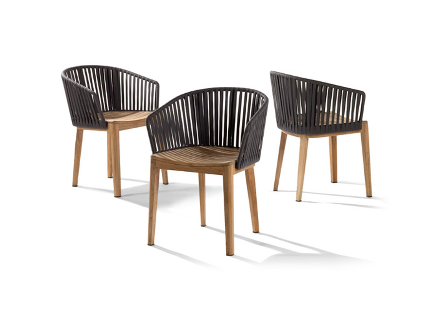 Mood outdoor dining chair by Tribu