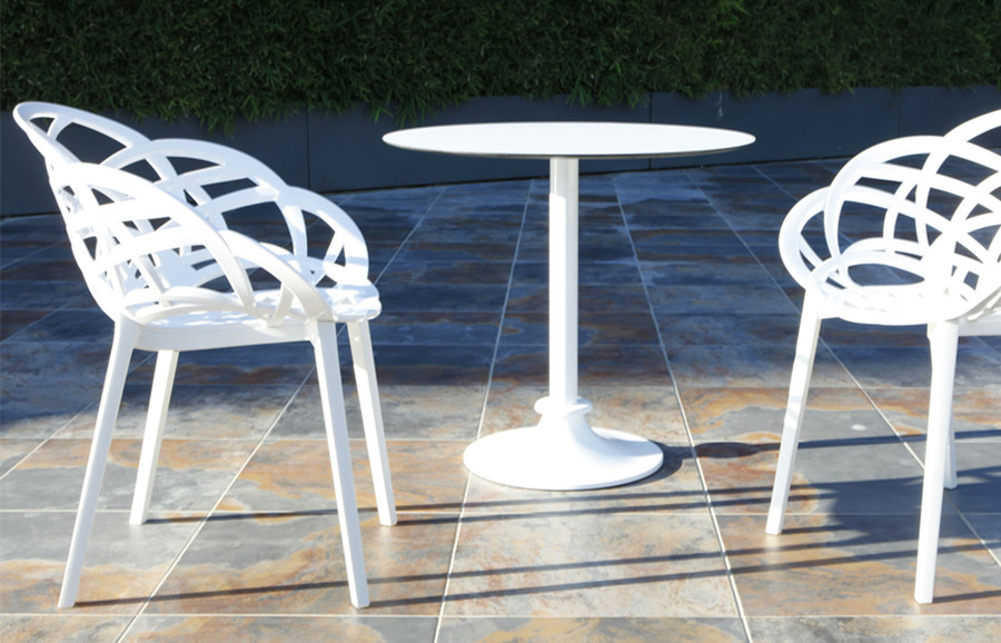 Flora outdoor plastic chair - various colours