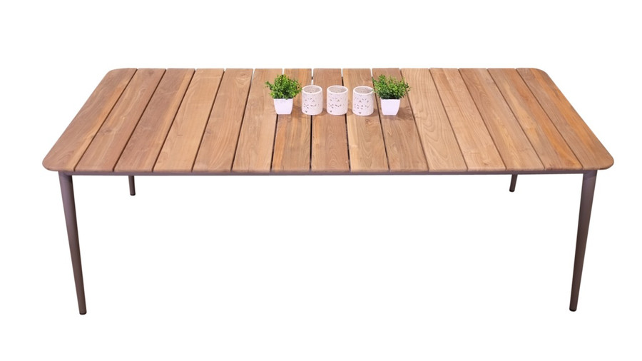 Odawa Reclaimed Teak And Aluminium Outdoor Table - 220x100 - Taupe only