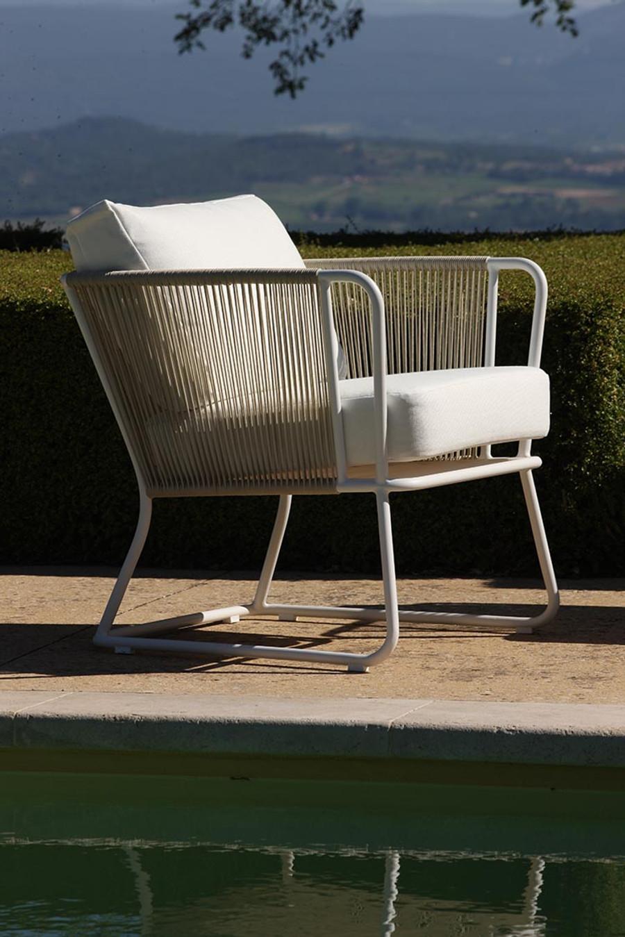 Coast Outdoor Rope And Aluminium Armchair