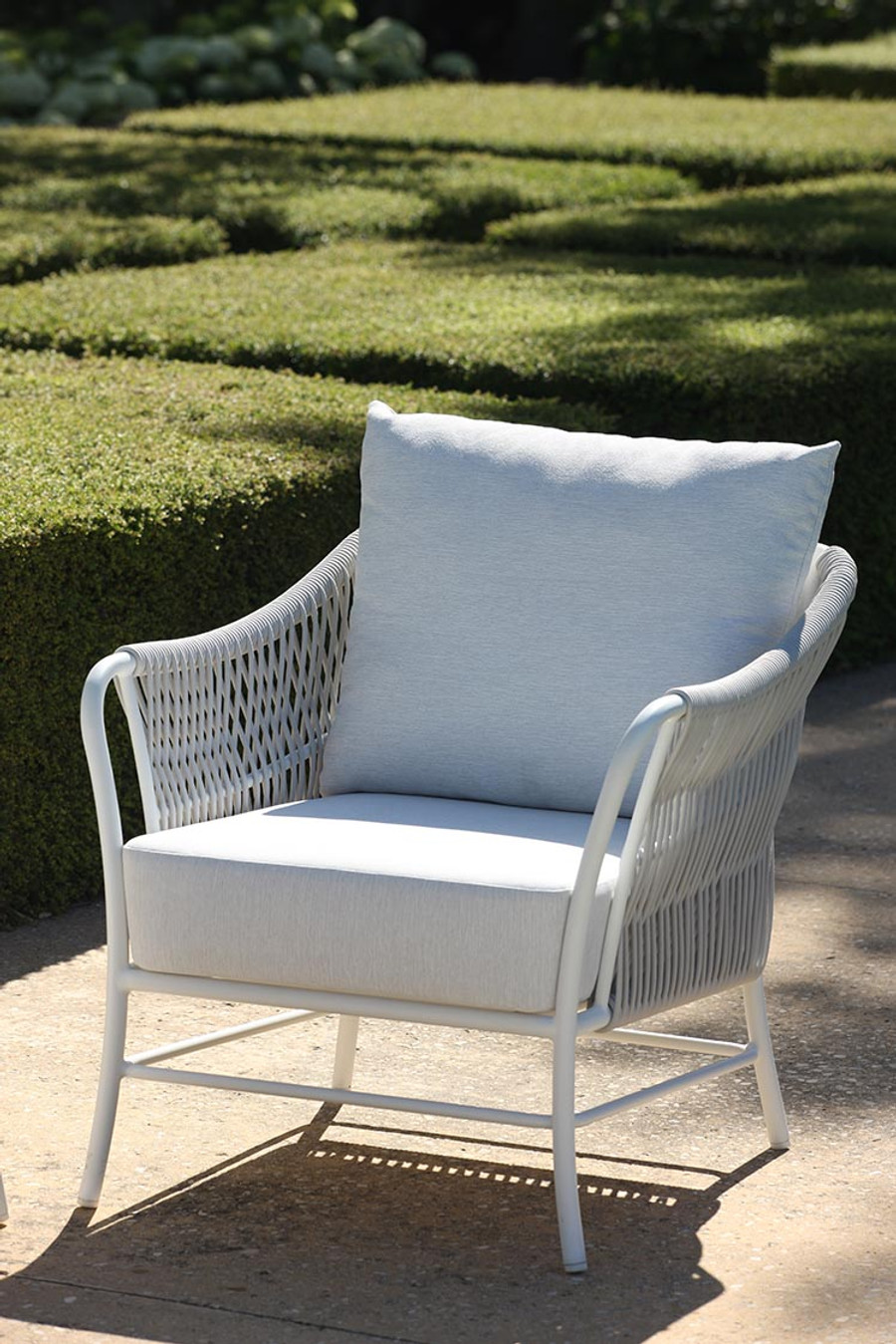 Roma Outdoor Cord And Aluminium Armchair