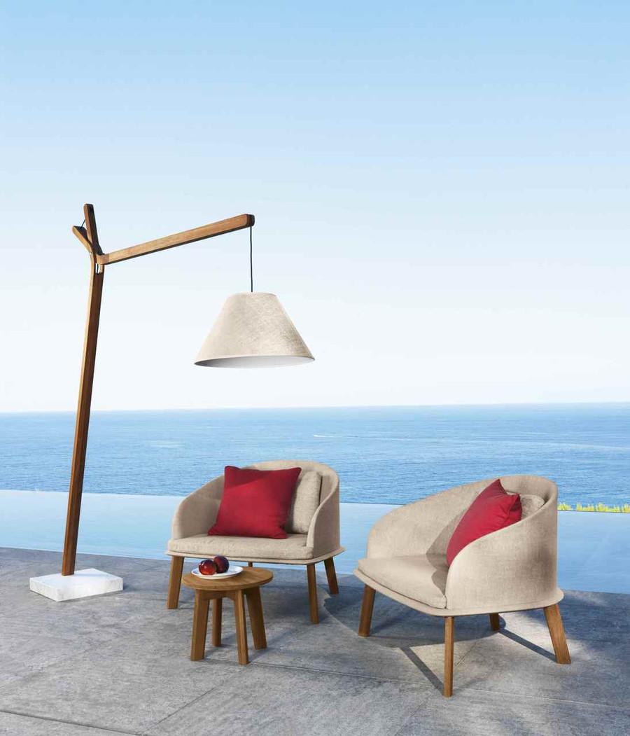 Cleo Outdoor Low Arm Chair By Talenti – Teak