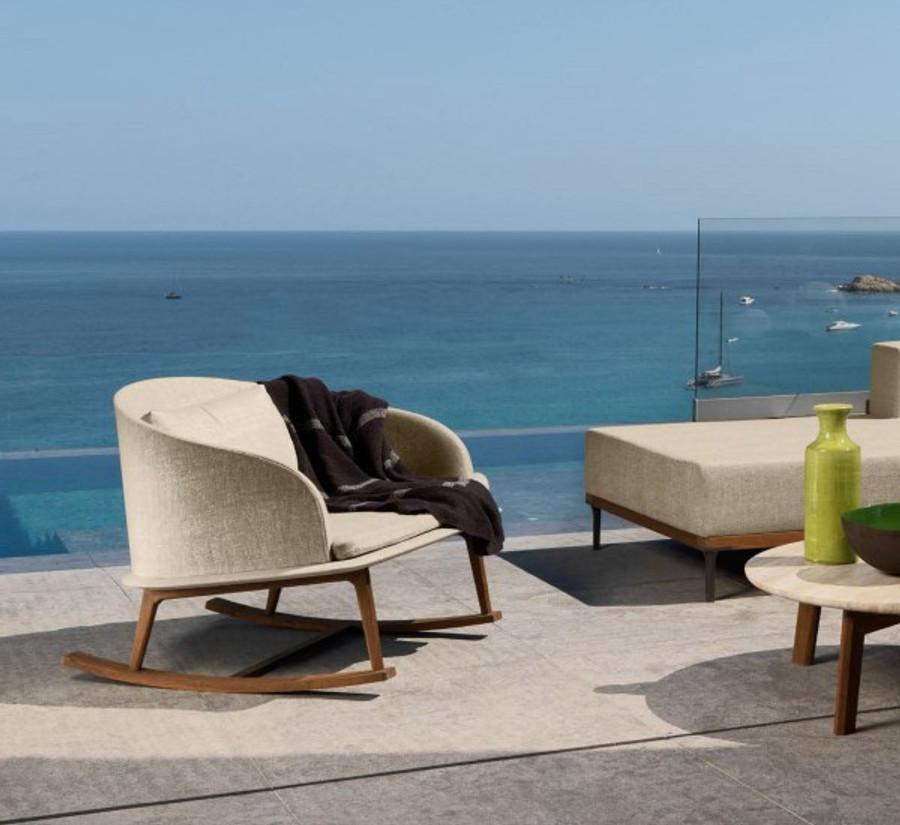 Cleo Outdoor Rocking Chair By Talenti – Teak