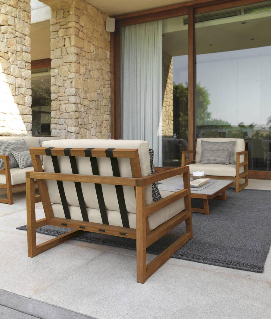 Alabama Outdoor Arm Chair By Talenti - Iroko Wood