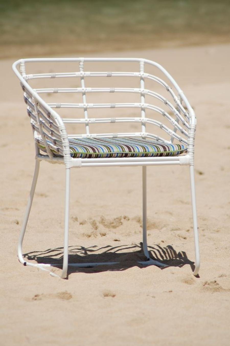 Miyako Outdoor Cord And Aluminium Dining Arm Chair