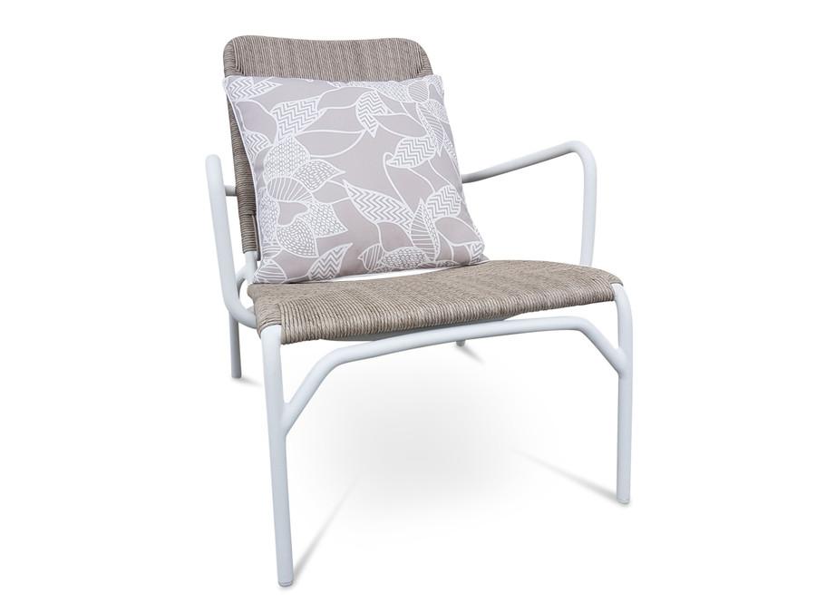 Calvin Outdoor Aluminium And Wicker Easy Arm Chair
