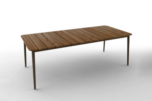 Odawa Outdoor Table X For Sale In Auckland NZ - Teak and aluminium outdoor table