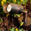Cast Brass Side Arm Spotlight PSDX613 (in scene) Shown In Bronze