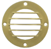 """3.5"""" Raw Brass Grill Cover"""