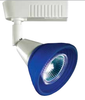 12v Track Head Light CTV111 White with Blue Glass