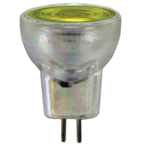 12V 20w Yellow Halogen MR8 Flood Light Bulb
