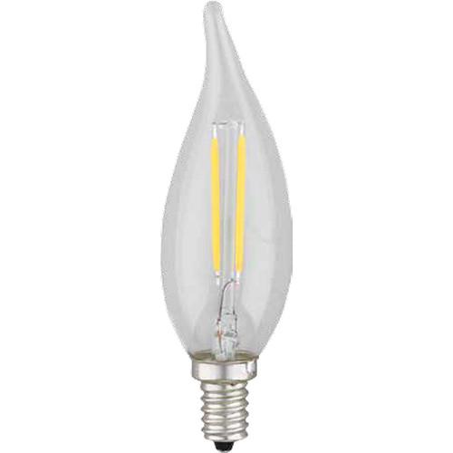 120V 2w Vintage LED Slim Candle Flame Tip Candleabra Light Bulb - Edison Style