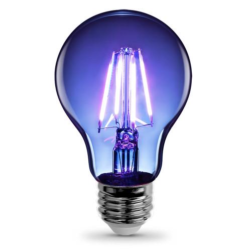 120V 3.6w LED Color Filament A19 Clear Blue Light Bulb - A19/TB/LED