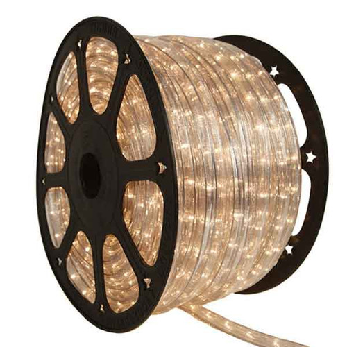 150 Ft 2 Wire Clear Incandescent Rope Light - 120v IP65 Waterproof