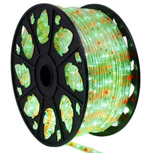 Red & Green LED Bi-Color Rope Light Spool
