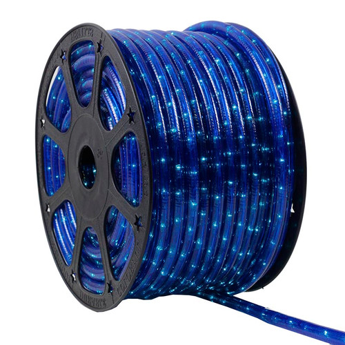 150 Ft Blue 3 Wire Incandescent Chasing Rope Light Kit - 120v