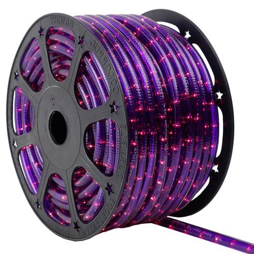 150 Ft 2 Wire Purple Incandescent Rope Light Kit - 120V IP65 Waterproof