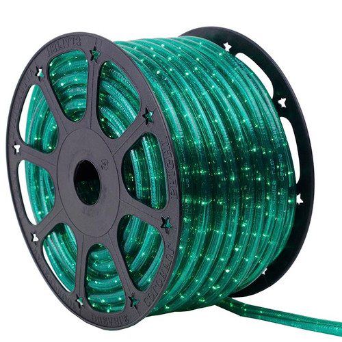 150 Ft 2 Wire Green Incandescent Rope Light Kit - 120V IP65 Waterproof
