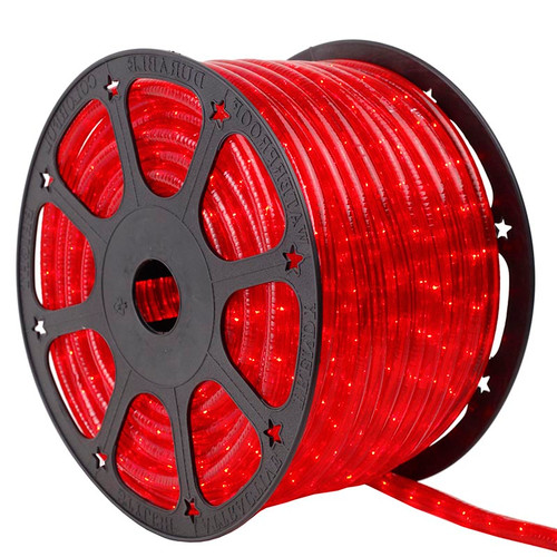 150 Ft 2 Wire Red Incandescent Rope Light Kit - 120V IP65 Waterproof