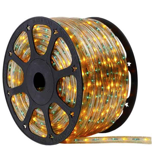150 Ft 3 Wire Green and Yellow Bi-Color Incandescent Rope Light Kit - 120V