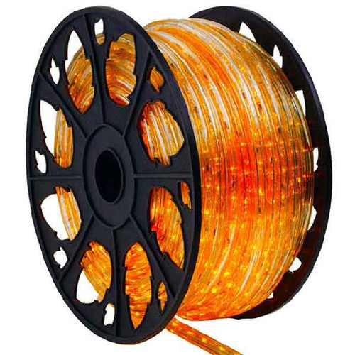 150 Ft Orange 3 Wire Incandescent Chasing Rope Light Kit - 120v
